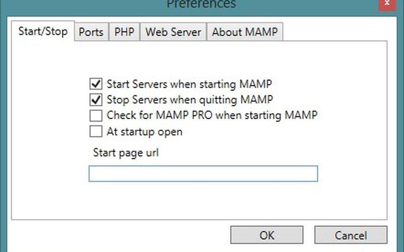 Скриншот 1 программы MAMP