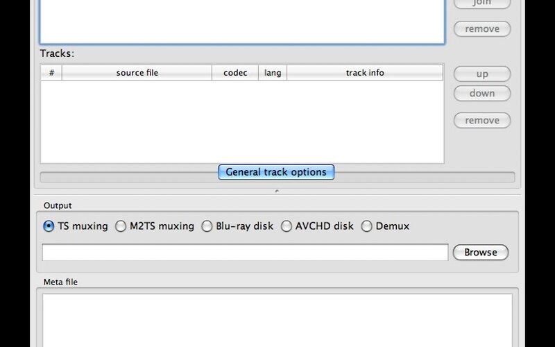 Скриншот 1 программы tsMuxeR