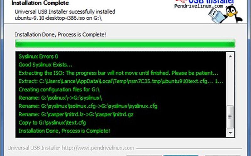 Скриншот 1 программы Universal USB Installer