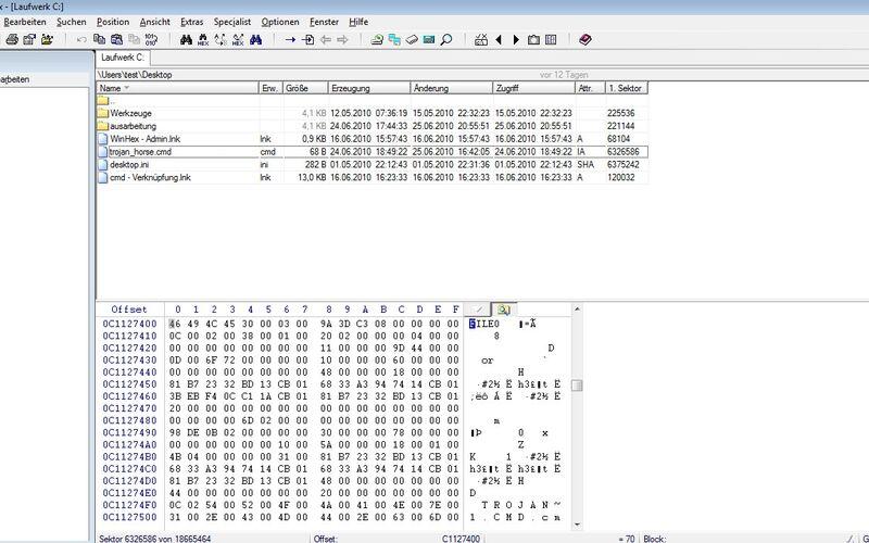 Скриншот 1 программы WinHex