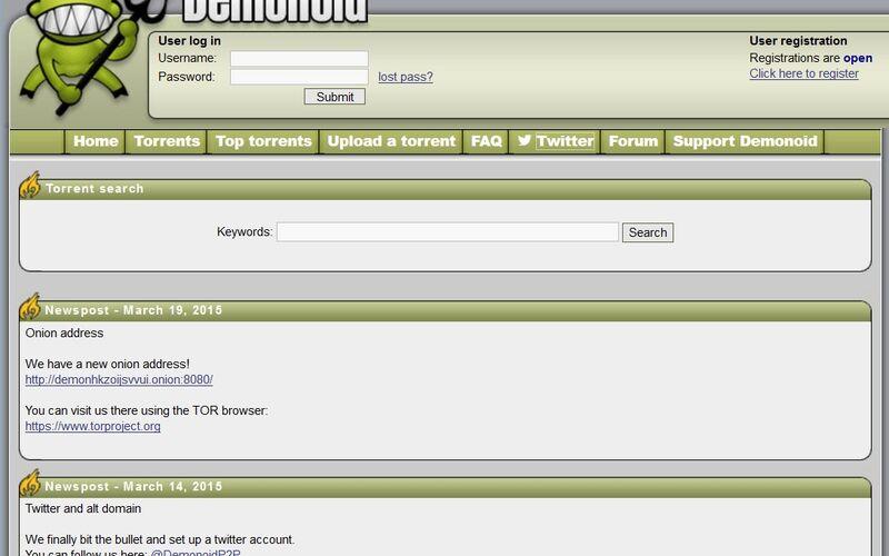 Скриншот 1 программы Demonoid