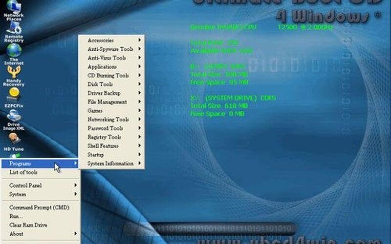 Скриншот 1 программы UBCD4Win