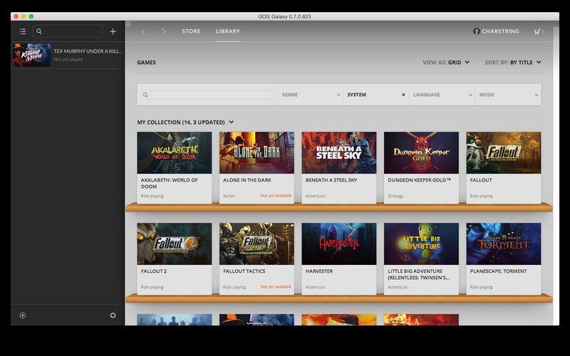Скриншот 1 программы GOG Galaxy