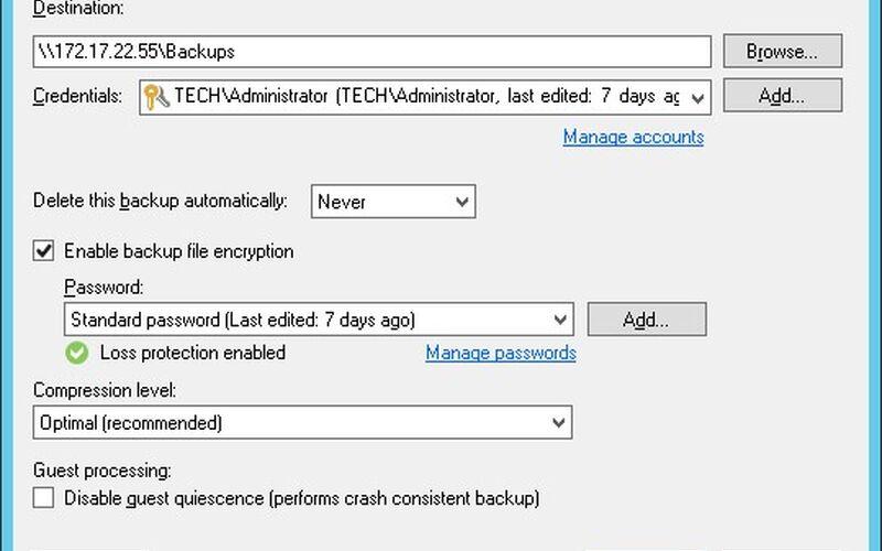 Скриншот 1 программы Veeam Backup