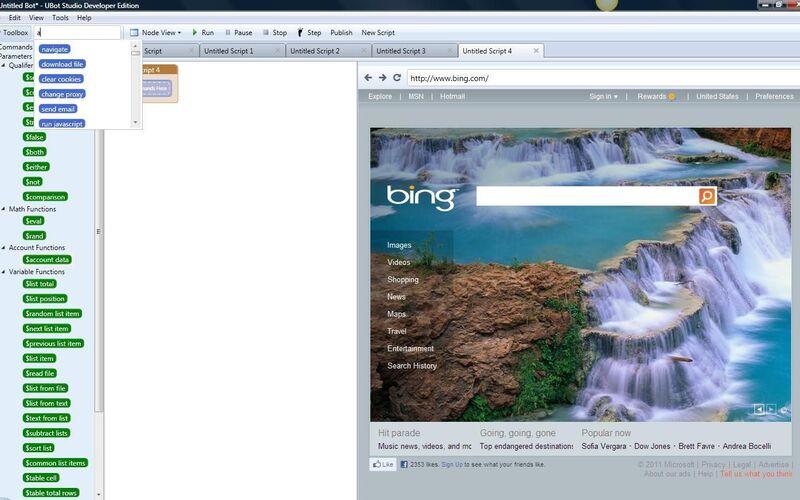 Скриншот 1 программы UBot Studio