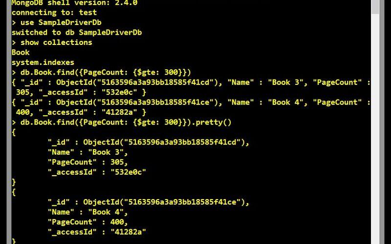 Скриншот 1 программы MongoDB