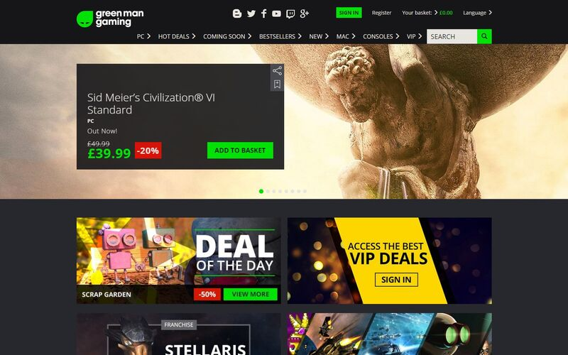 Скриншот 1 программы Green Man Gaming