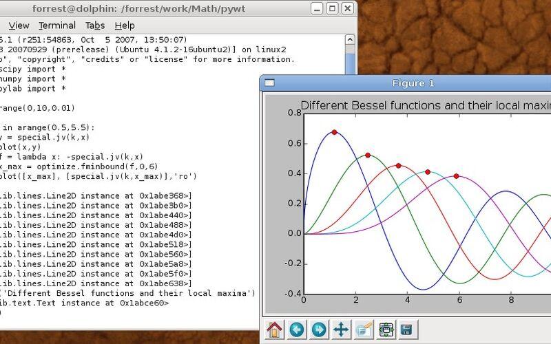 Скриншот 1 программы SciPy & Numpy