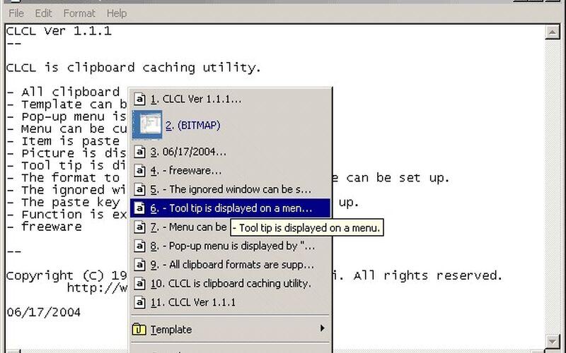 Скриншот 1 программы CLCL