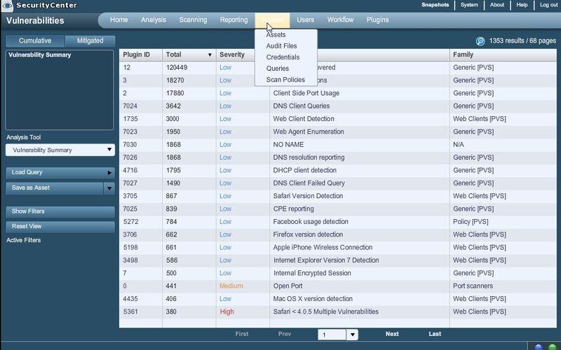 Скриншот 1 программы Nessus