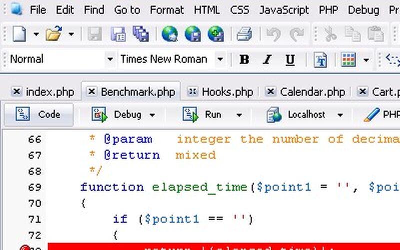 Скриншот 1 программы phpDesigner