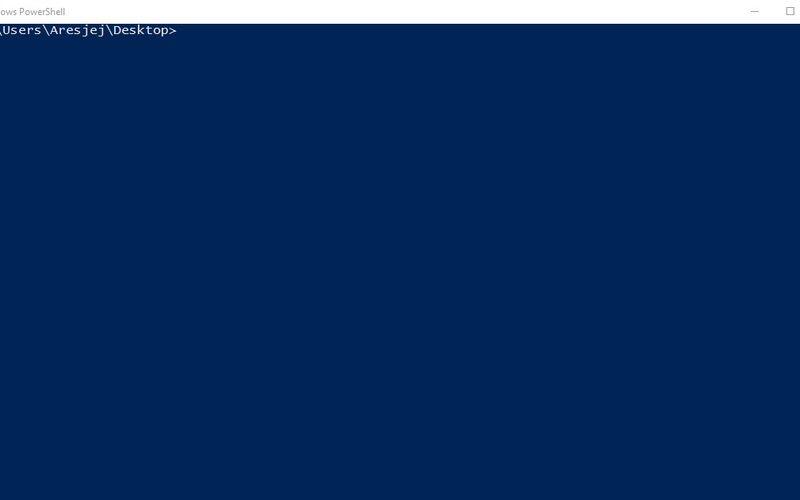 Скриншот 1 программы PowerShell