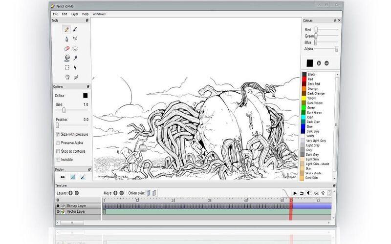 Скриншот 1 программы Pencil2D