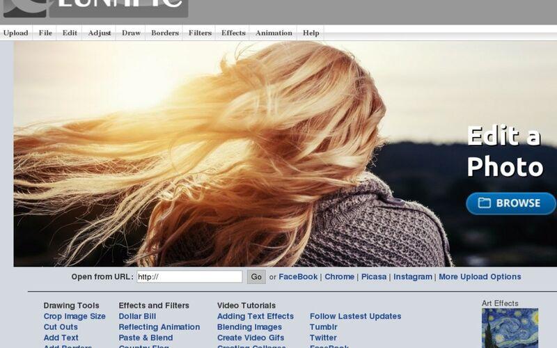 Скриншот 1 программы LunaPic
