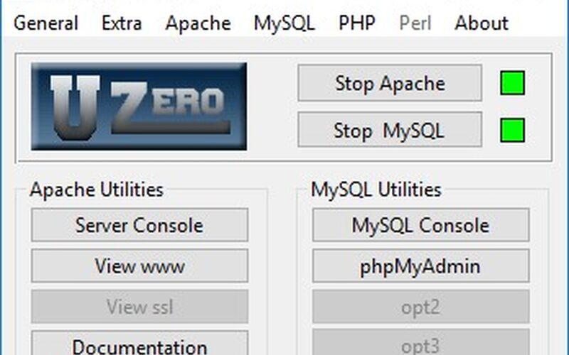 Скриншот 1 программы The Uniform Server