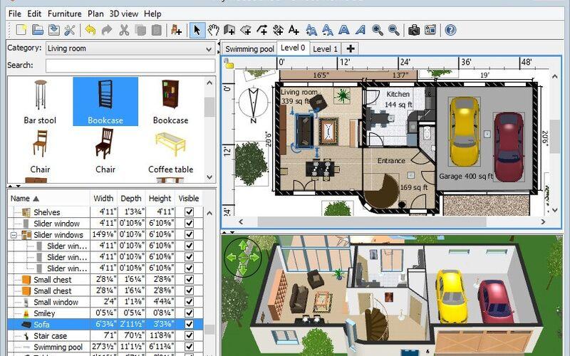 Скриншот 1 программы Sweet Home 3D