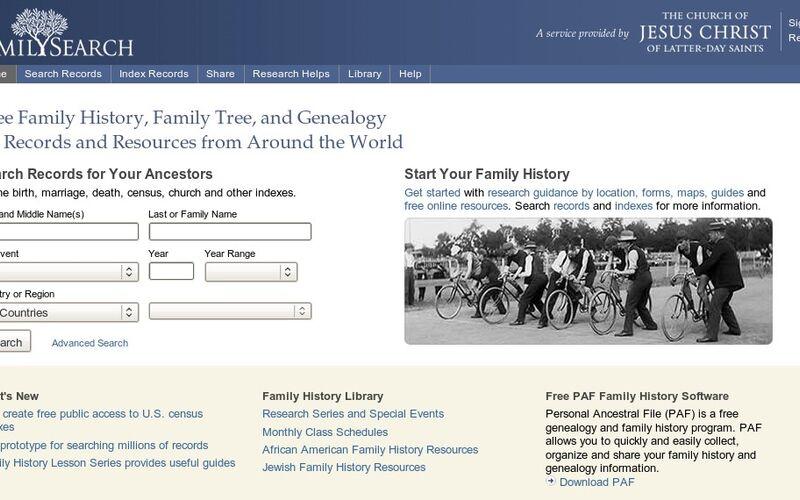 Скриншот 1 программы FamilySearch.org