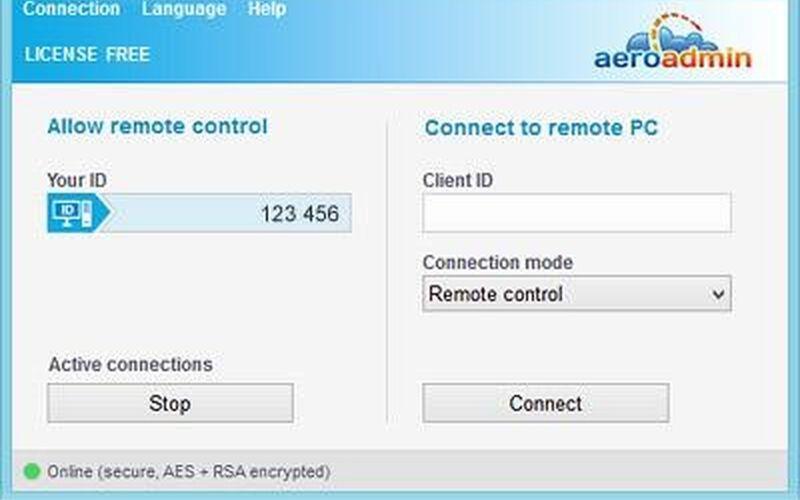 Скриншот 1 программы Aeroadmin