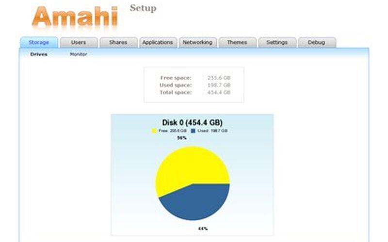 Скриншот 1 программы Amahi Home Server