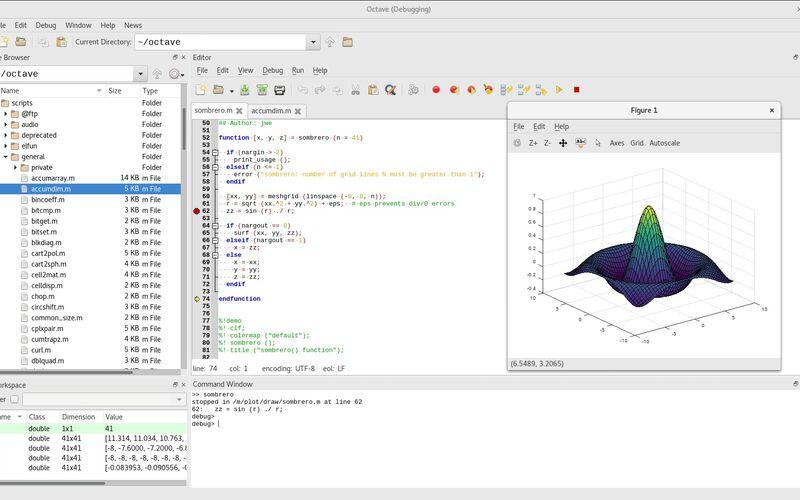 Скриншот 1 программы GNU Octave