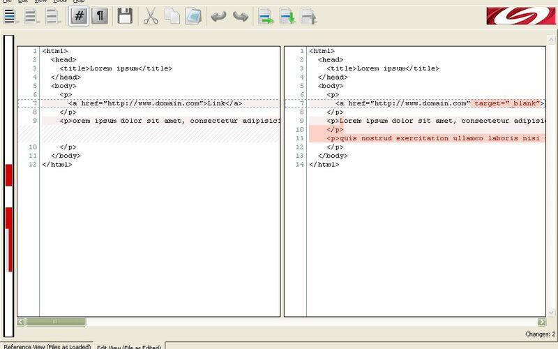 Скриншот 1 программы DiffMerge