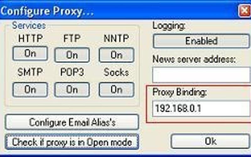 Скриншот 1 программы AnalogX Proxy