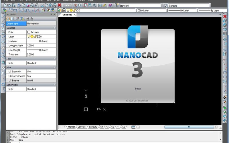 Скриншот 1 программы nanoCAD