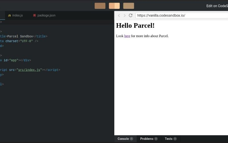 Скриншот 1 программы CodeSandbox