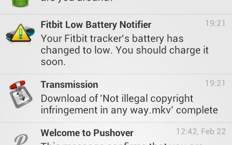 Скриншот 1 программы Pushover
