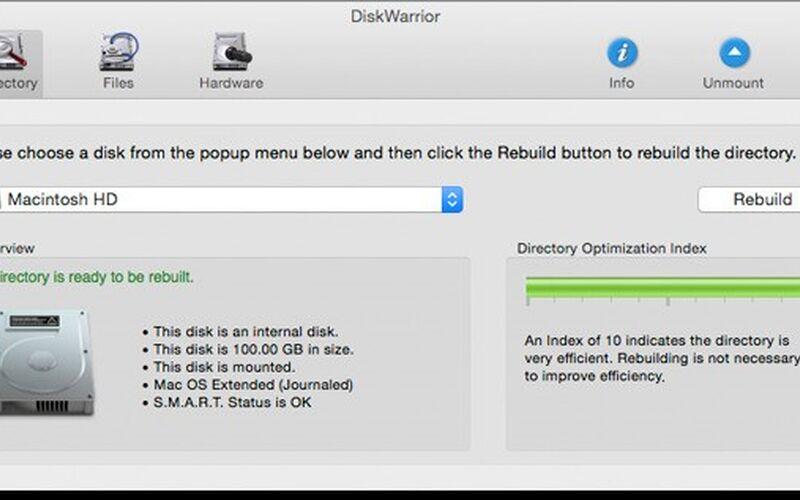 Скриншот 1 программы DiskWarrior