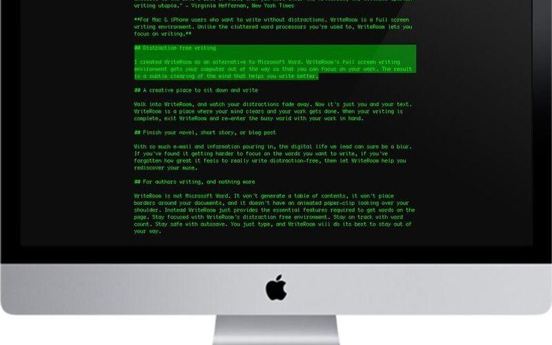 Скриншот 1 программы WriteRoom
