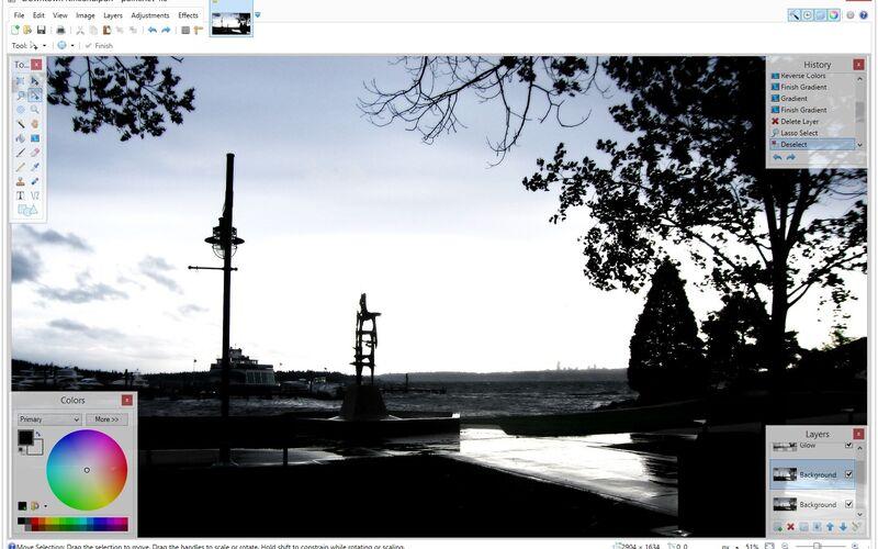 Скриншот 1 программы Paint.NET