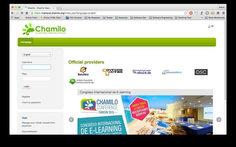 Скриншот 1 программы Chamilo