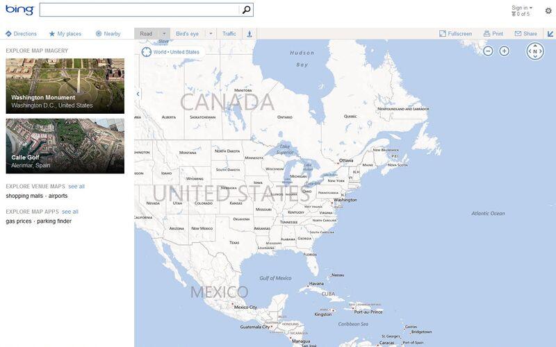 Скриншот 1 программы Bing Maps