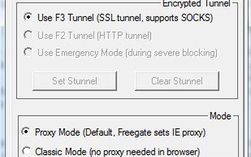 Скриншот 1 программы Freegate