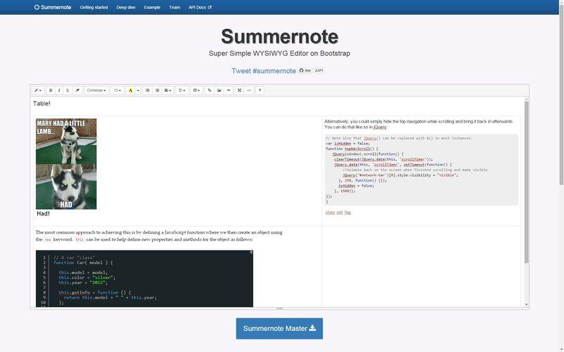 Скриншот 1 программы Summernote