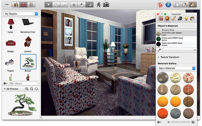 Скриншот 1 программы Live Interior 3D Pro