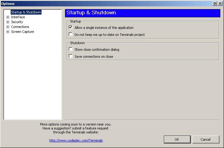 Скриншот 1 программы Terminals