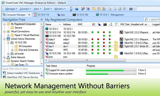 Скриншот 1 программы SmartCode VNC Manager