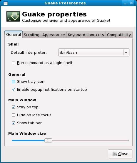 Скриншот 1 программы Guake terminal