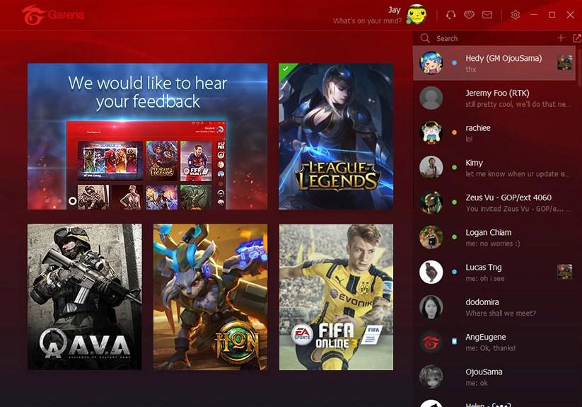 Скриншот 1 программы Garena Plus